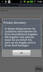 Private Secretary - Schneller Briefe erstellen