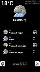 Weather forecast widget - Sonne oder Regen?