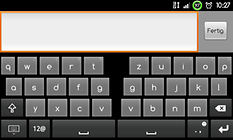 Thumb Keyboard (Phone/Tablet) - Besser Tippen auf Tablets