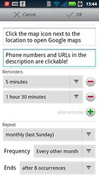 aCalendar - l'agenda Android