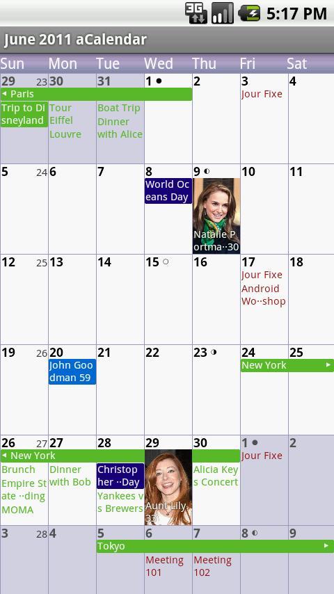 acalendar android calendar androidpit. Black Bedroom Furniture Sets. Home Design Ideas
