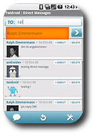 twidroid for twitter
