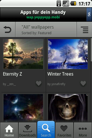 Zedge Ringtones & Wallpapers – and loads of them.