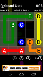 Flow Free -Puzzle per Android con punti e linee