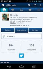 TweetCaster Pro for Twitter - Eine lange Reise!