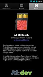 A1 SD Bench - El Test Benchmark para tarjetas SD, memoria interna y RAM