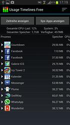 Usage Timelines Free - Busca y destruye lo que consume tu batería