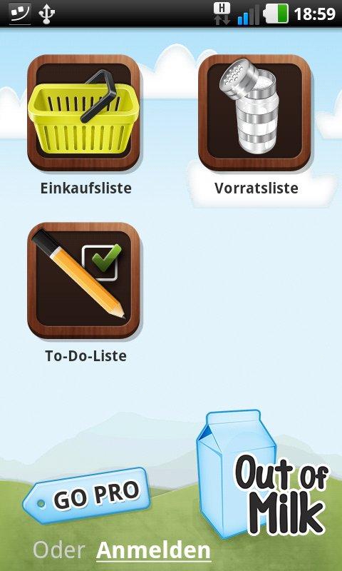 Out of Milk Shopping List– Einkäufe und Aktivitäten gut organisiert ...