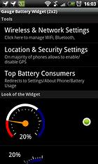 Gauge Battery Widget - Running Out Of Juice?