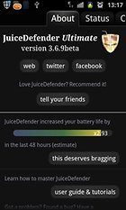 JuiceDefender - battery saver - Le preux chevalier de la batterie