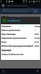 FolderSync Lite - Cloud und lokalen Speicher synchron halten!
