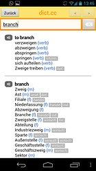 dict.cc+ Wörterbuch - die App zur Plattform