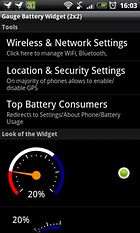 Gauge Battery Widget - Akku leer?