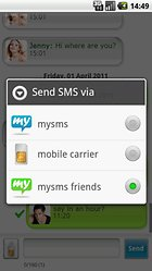 """mysms - Phone, PC & Tablet SMS"" - SMS in der Cloud"