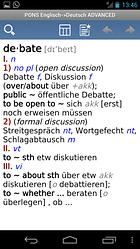 PONS Wörterbuch Englisch<>Deutsch PREMIUM – Nie mehr dicke Bücher schleppen!