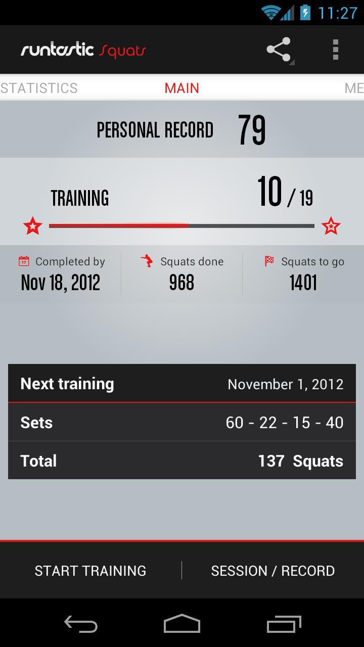 Runtastic squats pro la app per l 39 allenamento a casa for App per progettare casa android