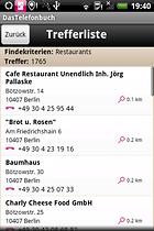 DasTelefonbuch für Deutschland - Nummern einfach unter Android suchen