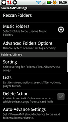 PowerAMP Music Player (PowerAMP Full Version Unlocker) – El repodructor de música para Android