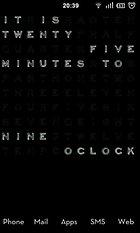 Text Clock Pro - Die Uhrzeit als Hintergrund