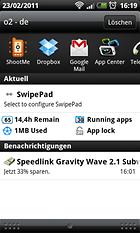 SwipePad Beta - Schnellzugriff und