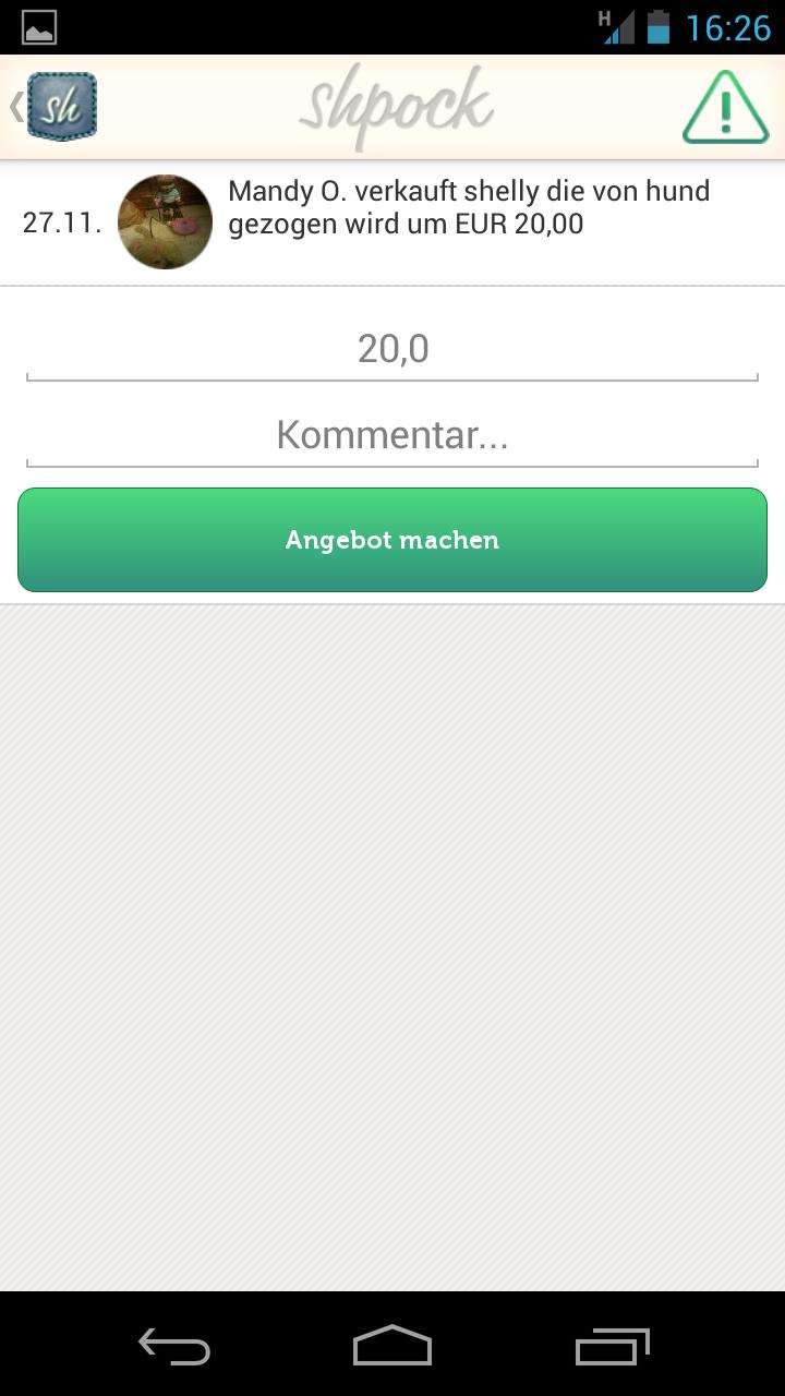 ladies:de flohmarkt app test