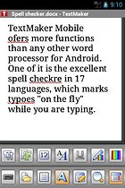 Office 2012: TextMaker Mobile -- A text tool for Android
