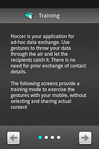 Hoccer: throw data