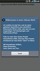 OpenOffice Document Reader - OpenOffice Dokumente unterwegs lesen!