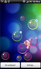 Notification Bubbles WALLPAPER – Bursting bubbles can be fun
