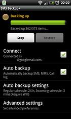 SMS Backup mit SMS Backup +