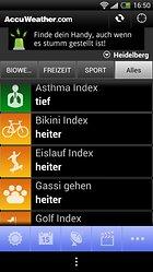 AccuWeather für Android - Dem Wetter voraus