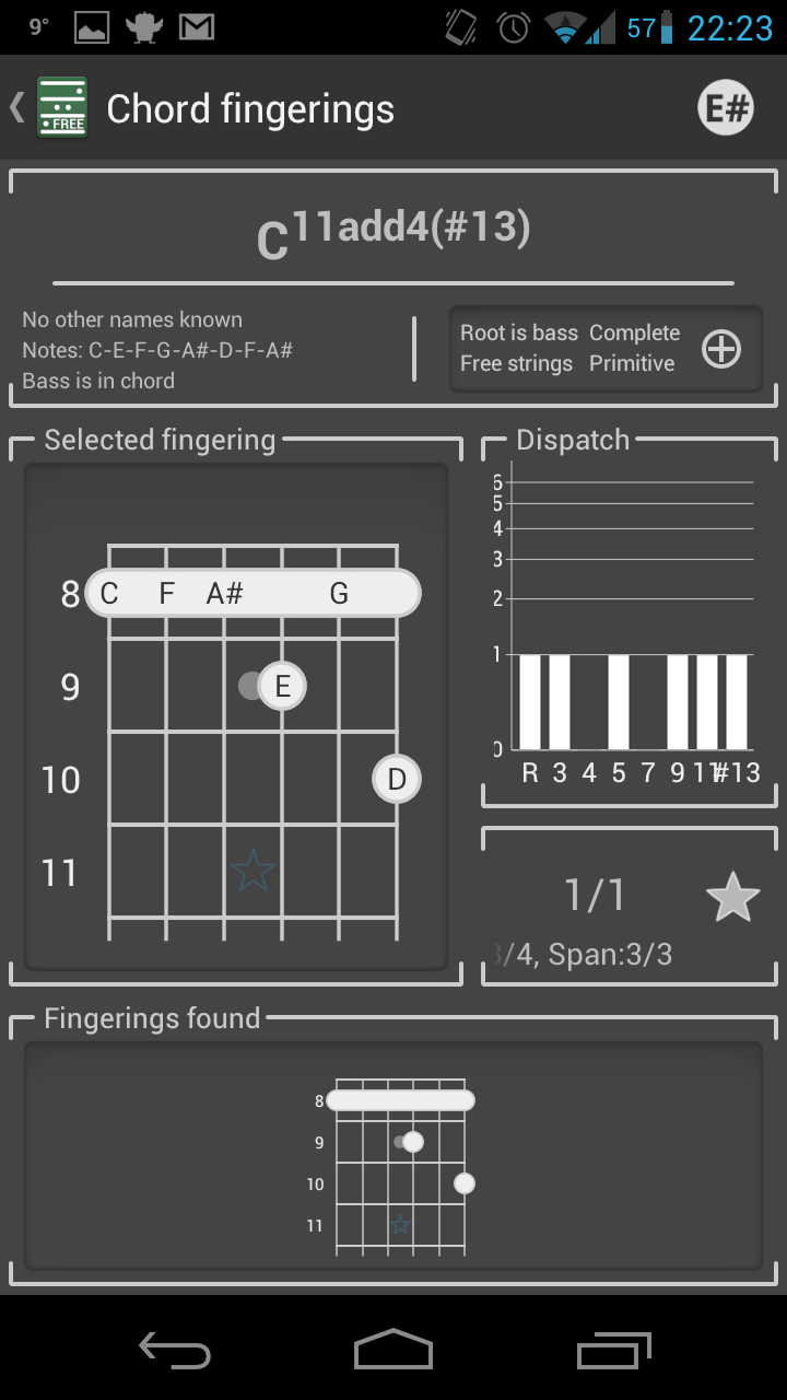 chord free guitar chords crazy chords androidpit. Black Bedroom Furniture Sets. Home Design Ideas