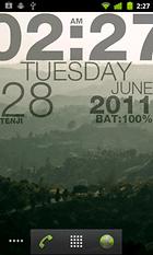 wp clock design live wallpaper – Votre smartphone à l'heure