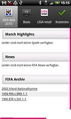 MobileTV - alle Spiele der WM live