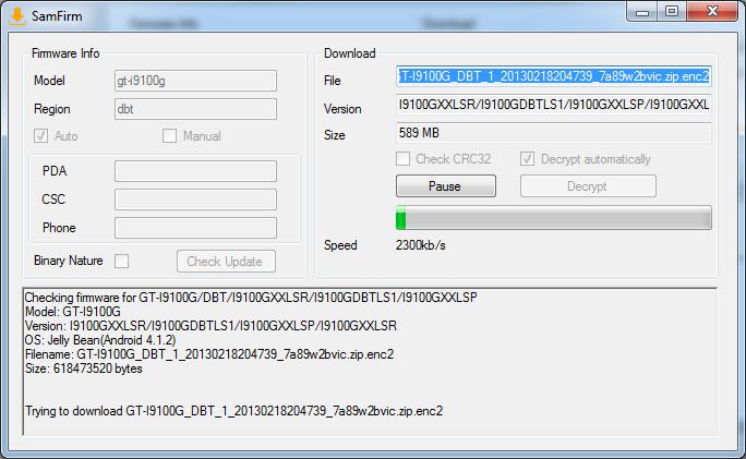 Tool Tutorial]Samsung Firmware Downloader SamFirm v0 3 6