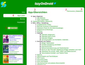 Startseite der App-Übersichten