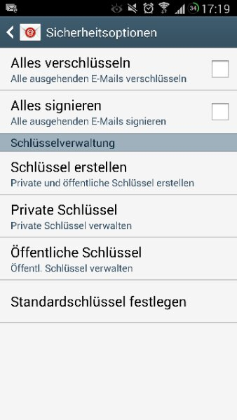 welchen Sicherheitstyp bei einem E-mail Konto auswählen | AndroidPIT