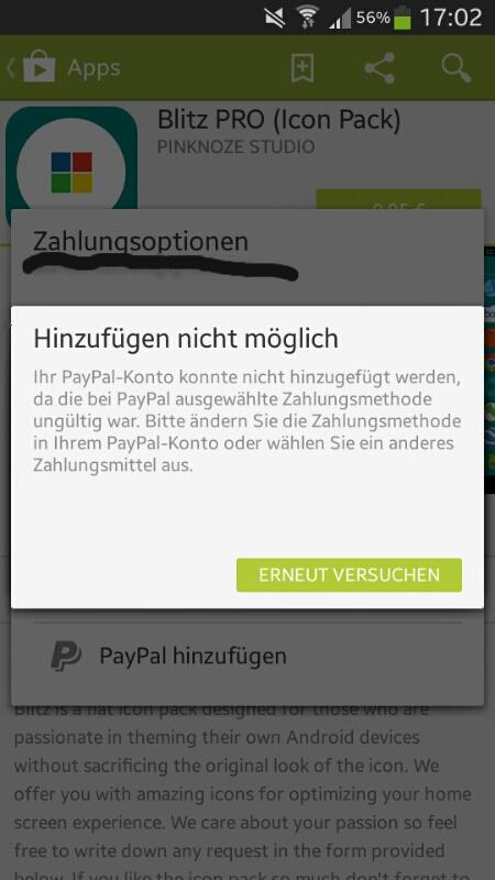 paypal konto kann im play store nicht hinzugef gt werden androidpit forum. Black Bedroom Furniture Sets. Home Design Ideas