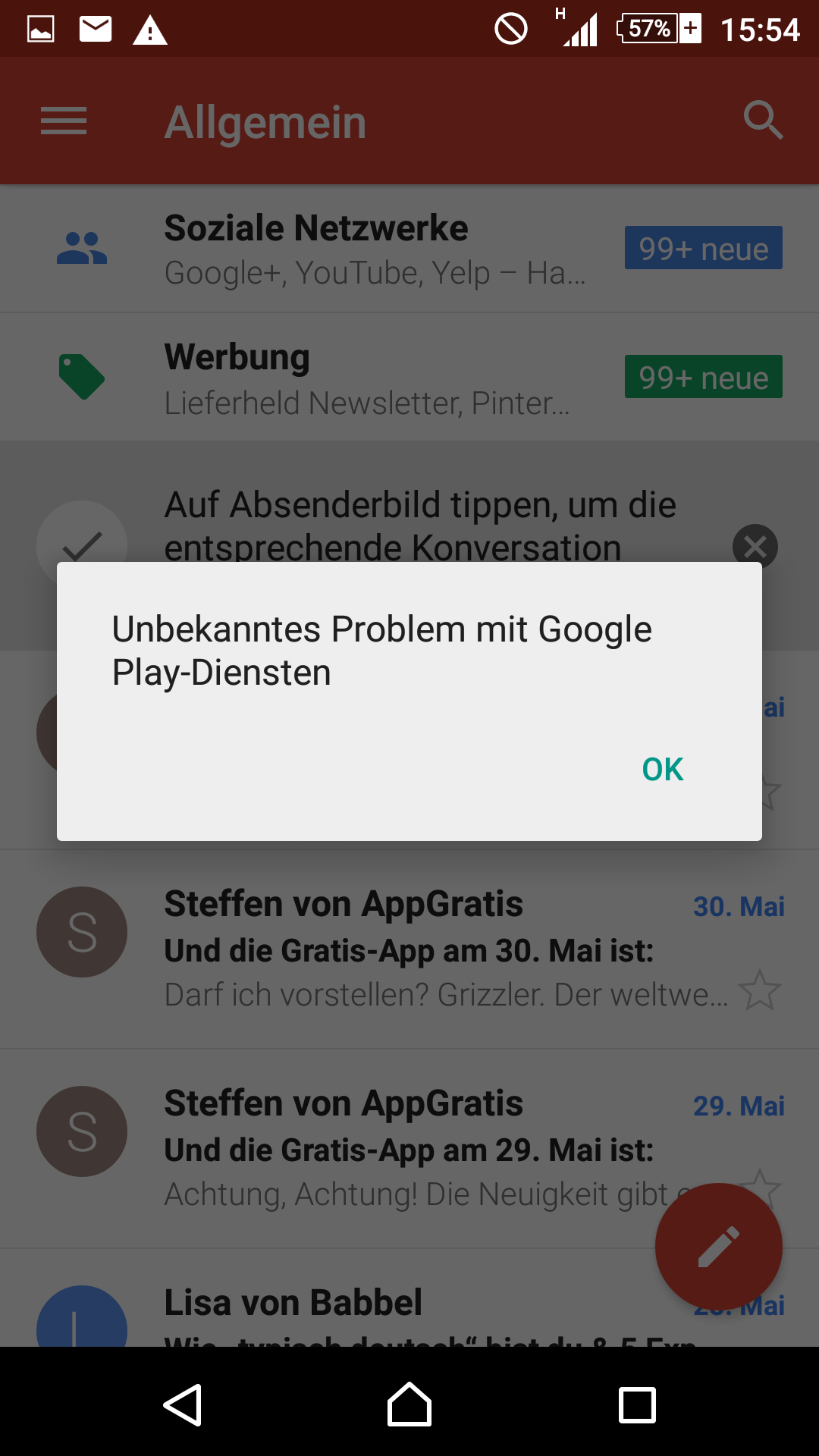 Google App Wird Wiederholt Beendet