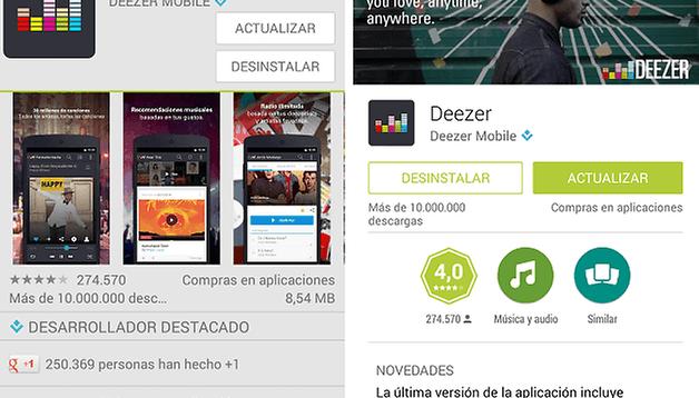 Google Play Store - Llega Material Design con la última actualización