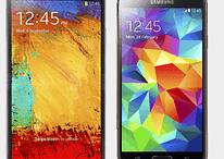 Comparación Samsung Galaxy Note 3 vs. Samsung Galaxy S5