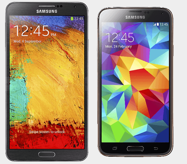 samsung galaxy note 3 vs s5