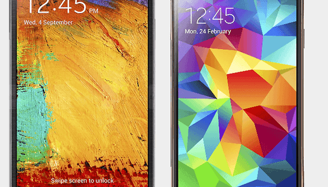 Comparación Samsung Galaxy Note 3 vs. Samsung Galaxy S5