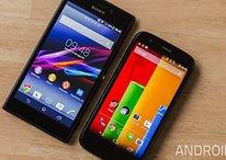 Comparación - Moto G vs. Sony Xperia M2