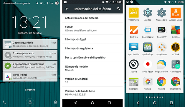 software funciones android lollipop 2