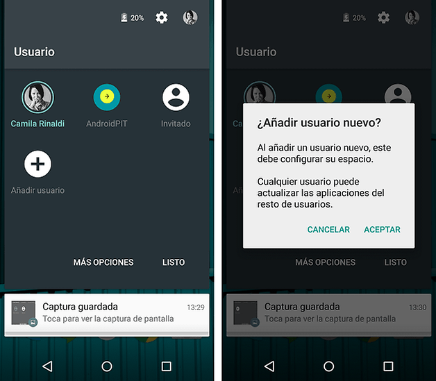 software funciones android lollipop 4