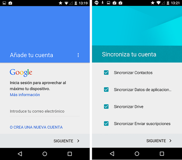 software funciones android lollipop