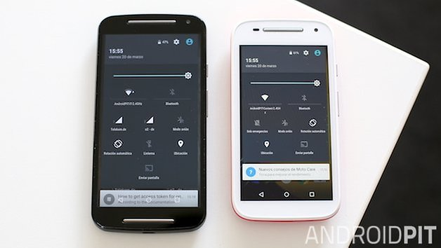moto e vs moto g settings