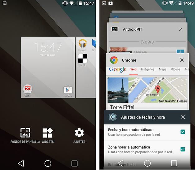 aplicaciones recientes android l androidpit