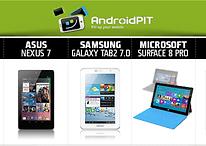 Comparación Nexus 7 con Samsung Tab 2 7.0, iPad 3 y Microsoft Surface
